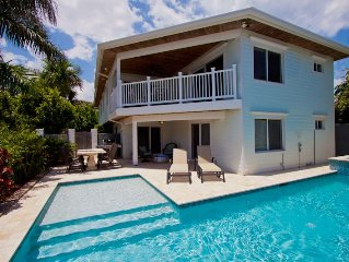 Ocean View House with Tropical Pool & Hot Tub just steps from the Beach!