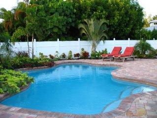 Anna Maria Island Luxury 2 BR 2 BA Private Heated Pool And Bayou To The Gulf