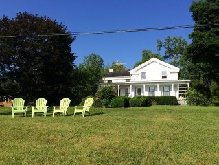 Waterfront Farmhouse On Cayuga Lake With Dock & 3 Acres Near Wineries & Colleges