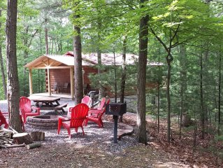 Log Cabin Located In 10 Acre Wooded Area & Seven Points Marina Within 5 Miles