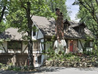Enchanting Tudor Home Set In Tall Forest - High End Amenities