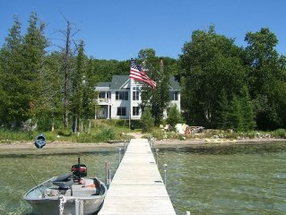 Perfect 5BR Family Lake House w/ Private Beach & Dock in Sleeping Bear Dune Area