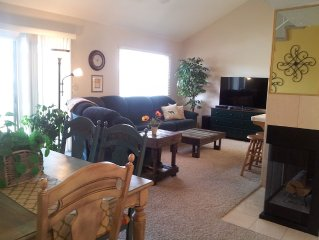 Room to Relax in this Large Sports Village Condo with a Big Deck and Nice Views!