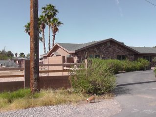 Ranch style home on 1 acre lot 1/2 mile from strip horse property