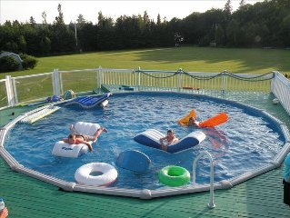 Luxurious Riverfront Cottage Rental - Salt Water Pool