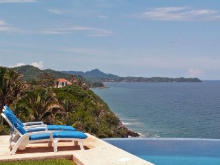 Casa Melissa- Oceanfront, Fabulous Views, Heated Infinity Pool, Private Tennis