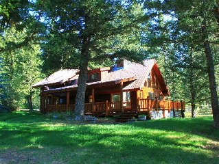2/2 Cabin In The Mountains With Pond & Beautiful Scenery & Wraparound Deck