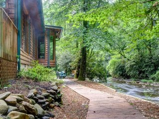Privacy Directly On Fires Creek. Borders National Forest And Bear Refuge!