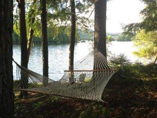 Adirondack Camp On Beautiful Blue Mountain Lake