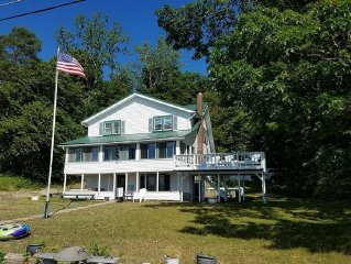 Beautiful Lake Front home with private beach,amazing views and Salmon River dock