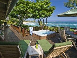 * Beachfront Luxury Home in Haena near Tunnels beach  TVNCU-1214