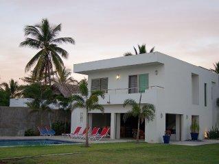 Modern Beachfront Villa With Private Pool 80 minutes north of Sayulita