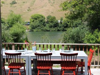 This home is tranquil on the river and recently remodeled.