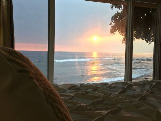 Rare BEACH FRONT Home.  Watch the turtles from your bed!