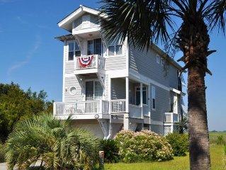 Island Style Home, Full Waterviews, Wow Sunsets, 5 Decks,  2p Kayak, Cart, Bikes