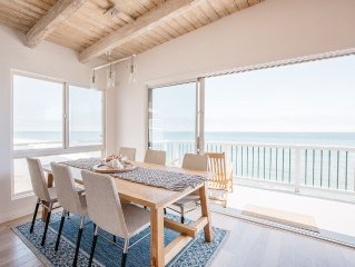 Malibu Road Oceanfront Updated Modern 2 Bedroom 2 Bath Beach House