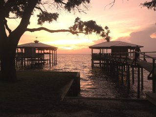 Fish, Swim, Boat From Your Own Pier.  Very near to Grand Hotel and RTJ Golf.