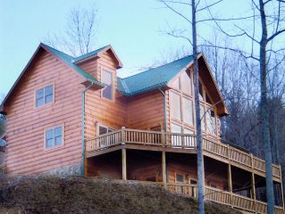 The Ultimate Watauga Lake Log Home - Feat. in Men's Journal Magazine!