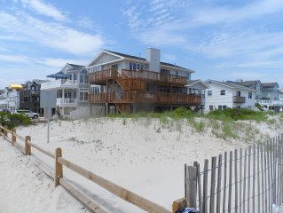 Classic, comfortable, and sizable beachfront single home with spectacular views