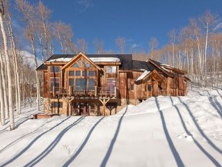 5 Bedroom Timber Frame Mountainside Lodge- Spectacular Views of Wilson Peak