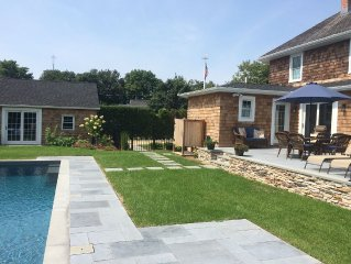 Southampton Village Newly Renovated and Landscaped Sun-Filled Home, Gunite Pool