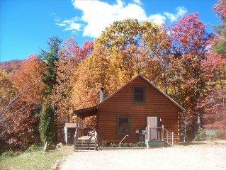 Secluded and private/ Hot Tub/Wood Fire-place/15 min-downtown Asheville/wifi/