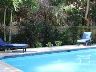 Private Luxury Pool, Morning Coffee On The Front Porch,  Easy Walk To The Beach