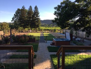 Prime Dry Creek Location, Hot Tub, Bocce, Vineyard Views, 5 Minutes To Downtown