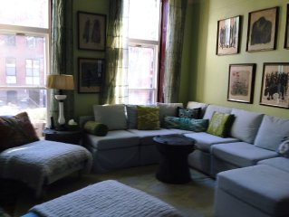 August Special!  Spacious, light-filled townhouse in hip brownstone brooklyn