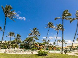 Beach Front Kauai Beach Resort Top Floor Great Ocean/Pool View, New Renovation!