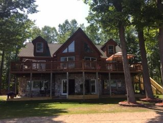 Family Friendly Lakefront Log Home Located Near Grand Rapids, Michigan