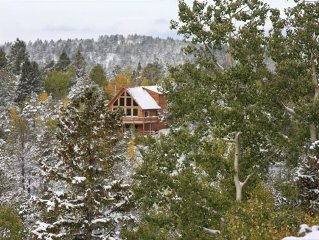 Million $ View! Modern Log Cabin in the Rockies!