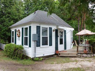 Quaint and quiet cottage north of Ephraim, just off of Hwy 42.  Easy to find.