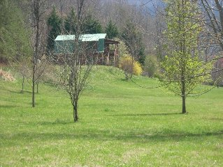 Peaceful and Calm, Creekside,  Pet friendly cabin, with Outdoor room to Roam