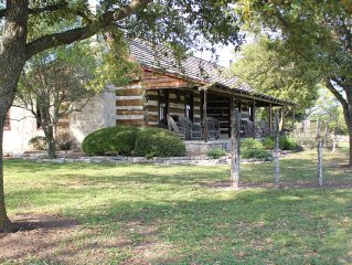 Reconstructed 1860's Dogtrot Cabin on the beautiful and scenic Diamond Y Ranch