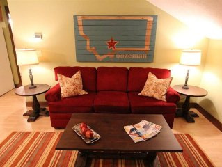 Clean and Cozy Bozeman Apartment. Near Big Sky, Yellowstone, & Bridger Bowl.