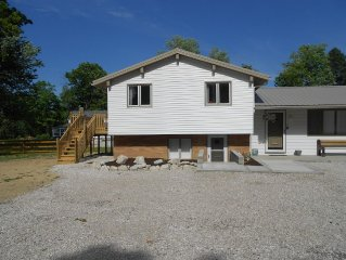 Newly Remodeled Beach House on the Lake , 600 ft. of private beach