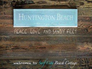Surf City Beach Cottage - 2 Short Blocks To Beach. Quiet Downtown HB Location.