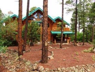 Luxury Log Home near Golf, Fish, Hike, Ski, & Casino.  WiFi!