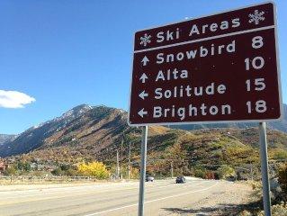 Ski/Summer Retreat, 9 Miles -Snowbird. Ski, Bike, Hike, Rock Climb. Pet friendly