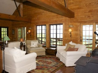 Great room - 30' high ceilings and spacious windows cover all four walls