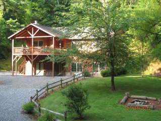 Chestnut Lodge, near Asheville, NC,  sits in a quiet wooded area of Weaverville.