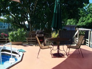 Key West Style with Pool and 2 Patios-Great Location!1st Floor