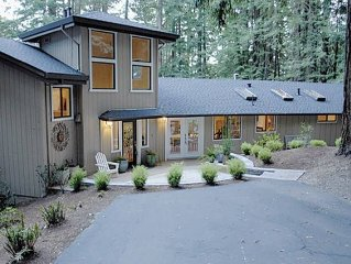 Large luxurious home situated among the redwoods in west Sonoma