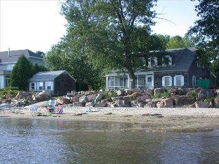 Rare Lake Champlain Beachside House for Rent in B