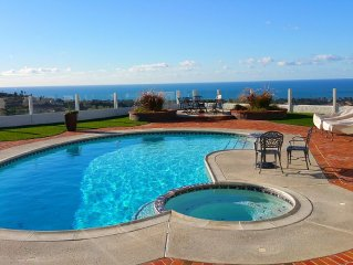 EXPANSIVE OCEAN VIEW, POOL HOME. CLOSE TO BEACH, HARBOR & HIKING TRAILS!
