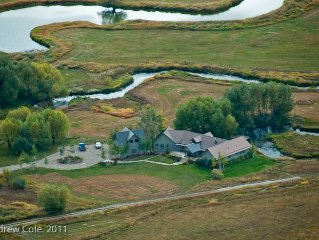 Fly fish, kayak, birdwatch onsite! Secluded ranch with creek to fish or float.