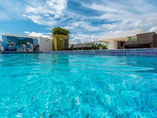 New Playa del Carmen 1 block from beach and 5th trendiest ideal location * WIFI
