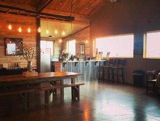 A Vineyard Location ~ Rustic Tasting Room ~ Oregon Wine Country Lodging