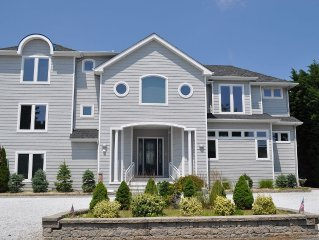 Luxury Lagoon Front Rental with Pool and Hot Tub in Loveladies-Long Beach Island